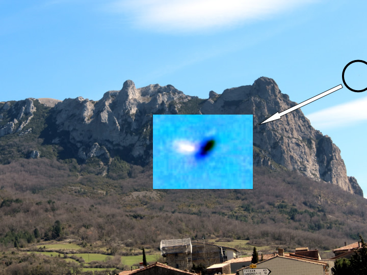 UFO photographed in Bugarach (France) &#45; 19<sup>th</sup> March, 2017