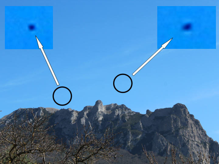 UFOs photographed in Bugarach (France) &#45; 19<sup>th</sup> March, 2017