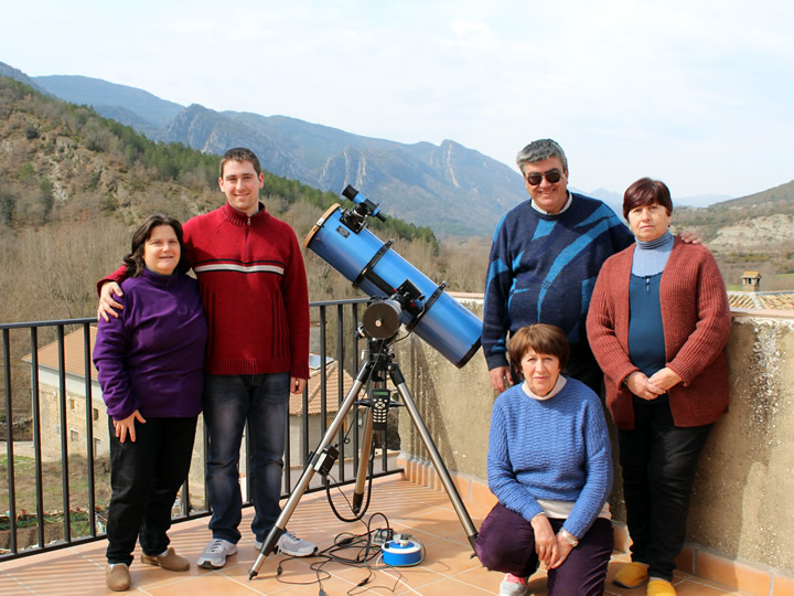 Solar Eclipse - Astronomical observation - Doors open day at Rasal (Huesca - Spain) - 20 March 2015